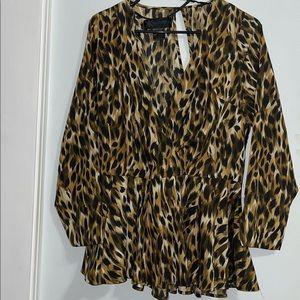 Kardashian Kollection Leopard Blouse